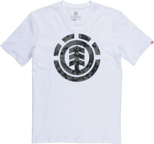 ELEMENT MENS T SHIRT.BARK LOGO WHITE COTTON SHORT SLEEVED SKATER TOP TEE 8W A9 3